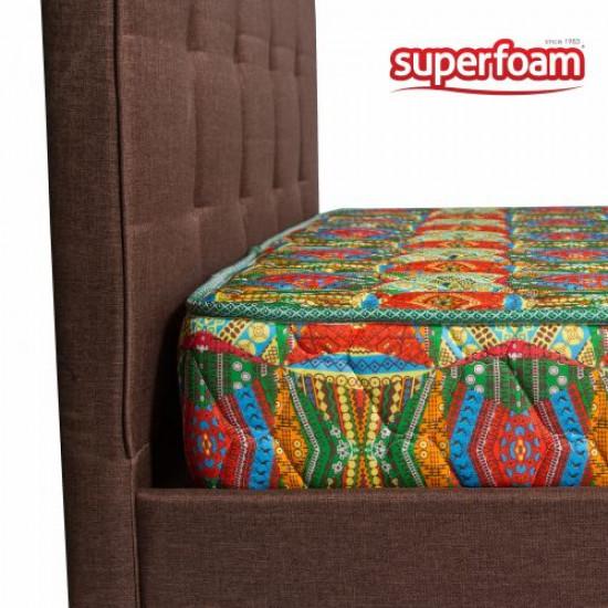 Quilted Super High Density African Print Mattress