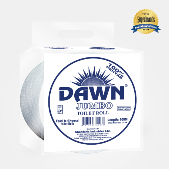 Dawn Jumbo White Toilet Tissue - Single Roll (100M)