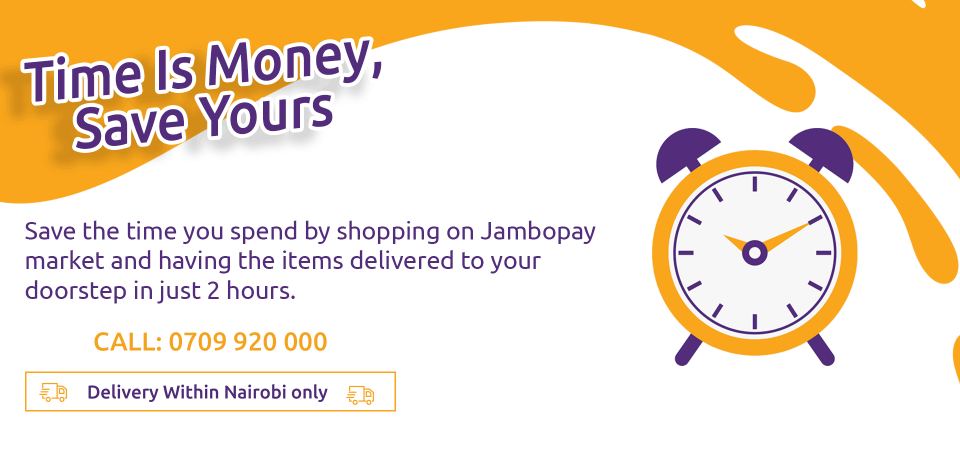 Time is money, save yours by shopping on Jambopay Market